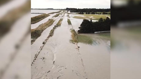 Drone footage reveals extent of Timaru highway wash-out