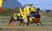 Injured arriving at Whakatane airfield. (Photo / Sian Gibson)