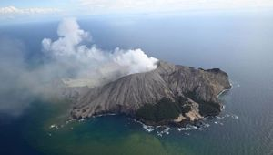 White Island after yesterday's volcanic eruption. (Photo / George Novak)
