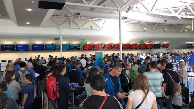Travellers face long delays at the international terminal of Auckland Airport. (Photo / File)