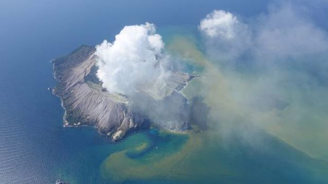 White Island shortly after the eruption. Photo / White Island Flights