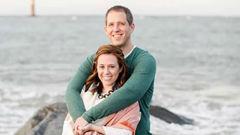 Matt and Lauren Urey wer eon the island as it erupted. (Photo / Supplied)