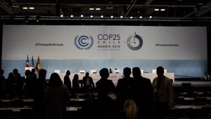 COP25 party members talk ahead of the closing plenary in Madrid. (Photo / AP)