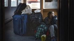 """""""traveling on overcrowded trains through Germany. And I'm finally on my way home!"""" Greta tweeted. (Photo / AP)"""