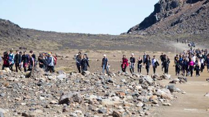The popular Tongariro Alpine Crossing now pulls in 130,000 people each year. (Photo / File)