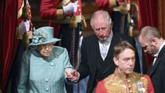 The Queen and Prince Charles attend the Opening of Parliament. (Photo / AP)