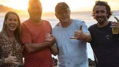 This image posted on Instagram reportedly shows Scott Morrison enjoying himself on holiday in Hawaii with fellow Australians. Photo / via Instagram