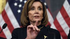 Nancy Pelosi after the vote for impeachment. (Photo / AP)