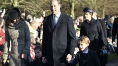 The Duke and Duchess of Cambridge are joined by Prince George and Princess Charlotte. (Photo / AP)