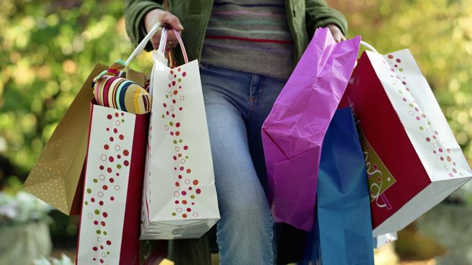 People spent around $100 million less compared to Black Friday. (Photo / Getty)