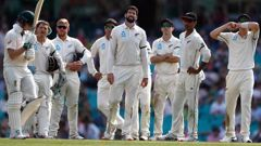 The Black Caps suffered in the field on day one against Australia. Photo / Getty