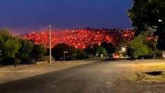 Balmattum Hill is really glowing tonight. Photo / via Facebook