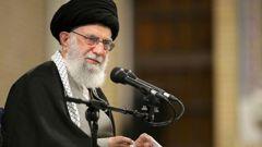 "Iranian supreme leader, Supreme Leader Ayatollah Ali Khamenei siad ""we slapped them (Americans) on the face last night"" with a missile strike. Photo / AP"