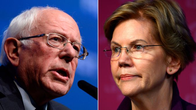 Bernie Sanders and Elizabeth Warren are both vying for the Democratic nomination. (Photo / CNN)