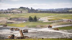 Milldale north of Auckland, an entirely new suburb being created. Photo / Greg Bowker