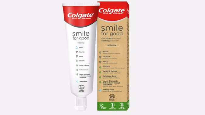 Colgate debuts vegan certified toothpaste, launching the 'industry-first' recyclable toothpaste tube.
