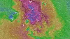 Tropical Cyclone Tino is making its way towards the islands of Tongan. Image / Windy