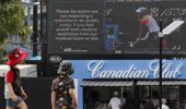 Messages during exhibition matches have warned of air quality. (Photo / AP)