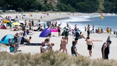 Vodafone staff can now spend the end of their working weeks at the beach. (Photo / NZ Herald)