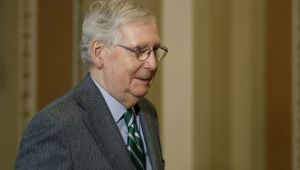 Senate Majority Leader Mitch McConnell wants a short trial. (Photo / AP)