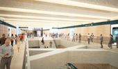 An artists impression of what the CRL Aotea Station will look like. (Photo / Supplied)