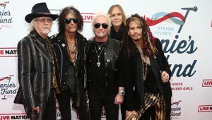 Brad Whitford, Joe Perry, Joey Kramer, Tom Hamilton and Steven Tyler of Aerosmith attend Tyler's Grammys charity benefit last year. (Photo / Getty)