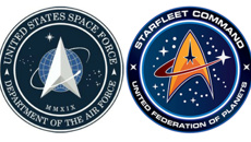 Space Force logo resembles Star Trek insignia