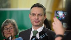 Climate Change Minister James Shaw said today's announcement marked the most significant upgrade in public transport infrastructure in the time he has been alive. (Photo / Mark Mitchell)