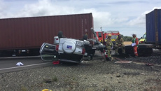 Up to three people hurt after train, cars collide in Otago