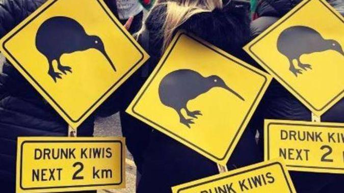 Thousands of Kiwis hit the London streets for the Waitangi pub crawl. Photo / File