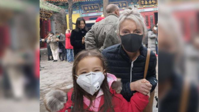 """Leah Robertson and her 4-year-old daughter were visiting family in Jinan in Eastern China when the city """"closed"""" due to coronavirus. Photo / Supplied"""