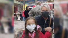 "Leah Robertson and her 4-year-old daughter were visiting family in Jinan in Eastern China when the city ""closed"" due to coronavirus. Photo / Supplied"