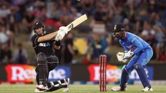 Martin Guptill made an excellent contribution for the Black Caps. Photo / Getty