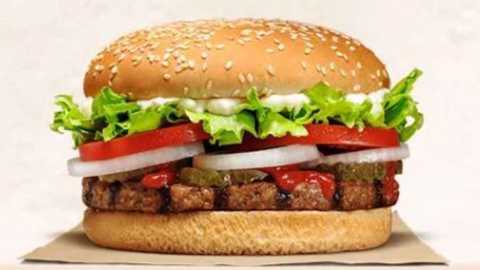 Burger King has started selling a meat-free burger in New Zealand, but it's not okay for vegetarians and vegans. Photo / Burger King