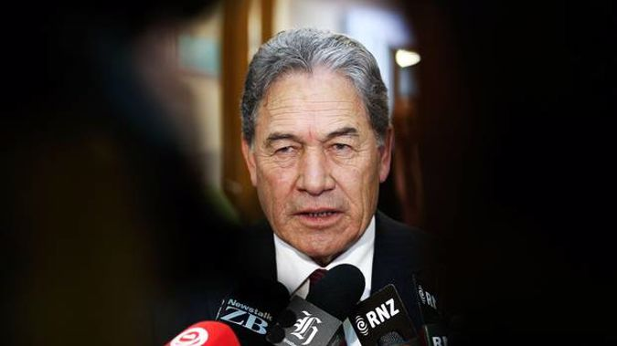 NZ First Leader Winston Peters says he was involved in having a photo taken of two journalists and former NZ First president Lester Gray. (Photo / Mark Mitchell)