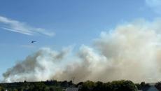 Grass fire closes roads in Rolleston