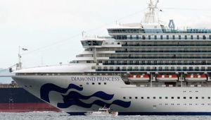 The Diamond Princess cruise ship has been struck down by coronavirus. (Photo / AP)