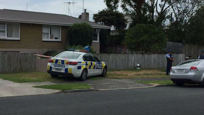 Police at the Lynwood Place property in the Tauranga suburb of Brookfield on February 16, the day after a woman was discovered dead there. Photo / NZ Herald