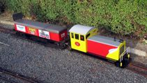 Young man with 'knife' on the run after attempted miniature train robbery