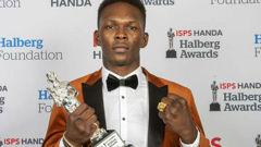 Israel Adesanya won sportsman of the year at the Halberg Awards. (Photo / Photosport)