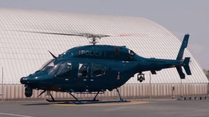 The new Canterbury police helicopter is being trialled for five weeks.