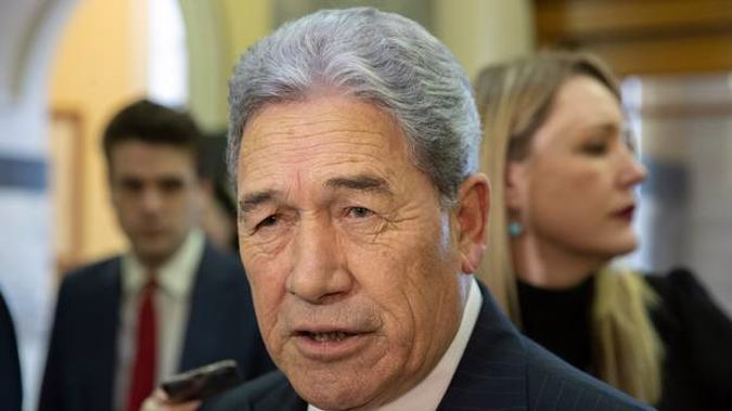 New Zealand First leader Winston Peters.