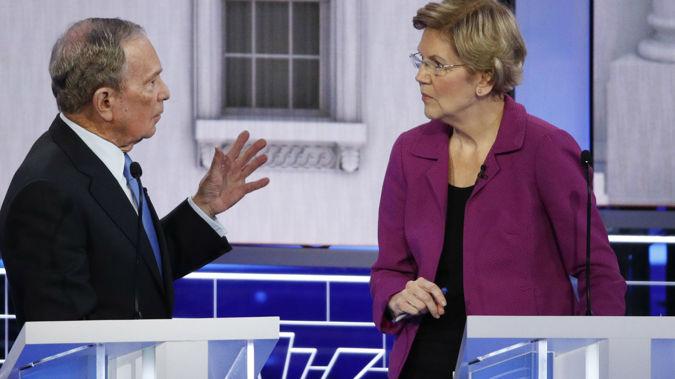 Elizabeth Warren led the attacks on Bloomberg. (Photo / AP)