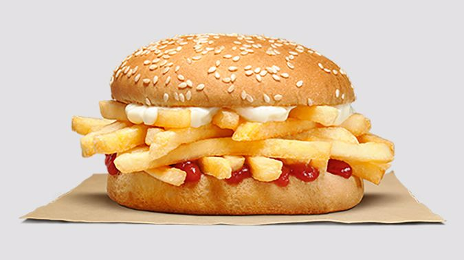 The chip butty has drawn the ire of Wendy's Twitter account. (Photo / Supplied)