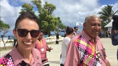 Jacinda Ardern and Frank Bainimarama met at