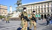 Italian soldiers wearing sanitary masks patrol Duomo square, in downtown Milan, Italy. (Photo / AP)