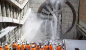 Alice was one of the other big tunnel boring machines. (Photo / NZ Herald)