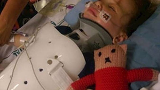 Avery Sinclair, 3, was critically injured in the crash. Photo / Supplied