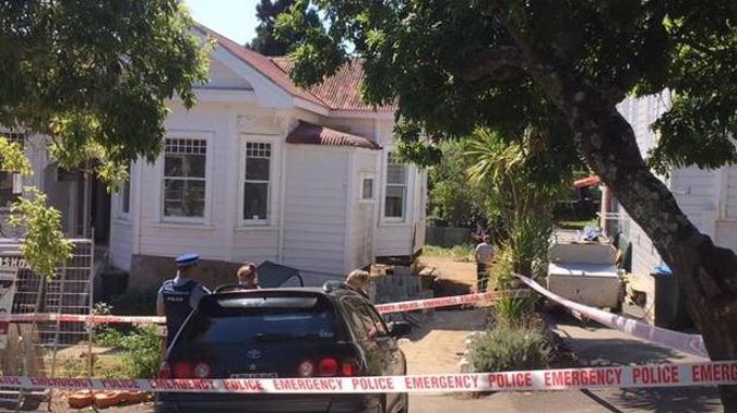 The Mt Eden house where bones were found underneath. (Photo / NZ Herald)