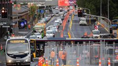 Auckland traffic is being hit hard by roadworks. (Photo / NZ Herald)